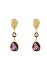 Rivka Friedman Graduated Faceted Amethyst Crystal