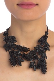 Valentino Embellished Floral Collar Necklace