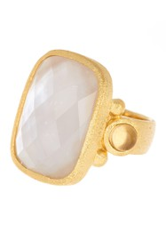 Rivka Friedman 18K Gold Clad Faceted Citrine Cryst