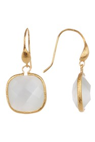 Rivka Friedman 18K Gold Clad White Cat's Eye Cryst