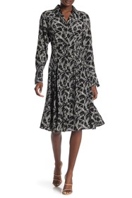 Equipment Julee Printed Silk Button-Down Dress