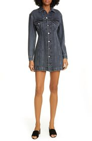 Helmut Lang Femme Short Denim Trucker Dress