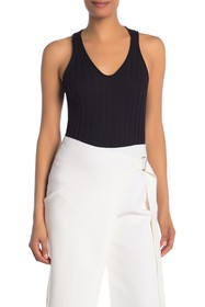 Helmut Lang Ribbed Knit Wool Tank Top