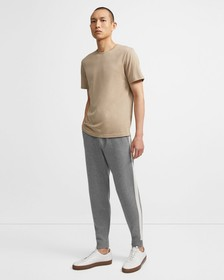 Jogger in Striped Wool-Cashmere
