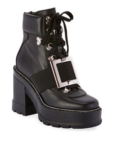 Roger Vivier Utility Chunky Buckle Booties
