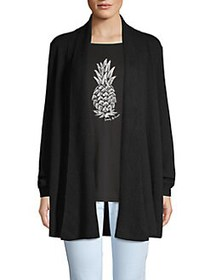 Tommy Bahama Open-Front Cashmere Cardigan BLACK