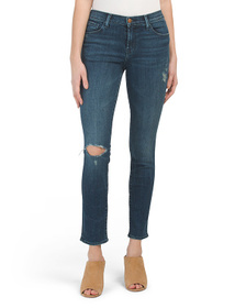 J BRAND Made In Usa Classic Skinny Destructed Jean