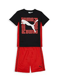 PUMA Little Boy's 2-Piece Performance T-Shirt & Sh