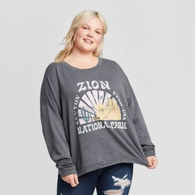 Women's Plus Size Zion National Park Sweatshirt -