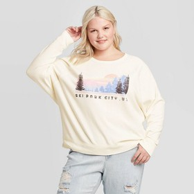 Women's Plus Size Ski Park City Sweatshirt - Grays