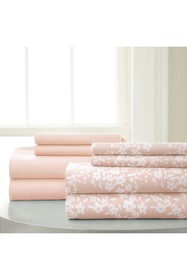 Modern Threads Solid & Floral 8-Piece Blush Sheet