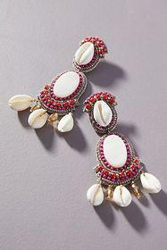 Anthropologie Suzanna Dai Large Shell Earrings