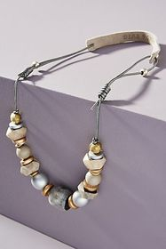 Anthropologie Twine & Twig Classic Cord Necklace