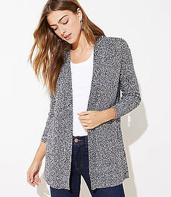 Marled Textured Open Cardigan