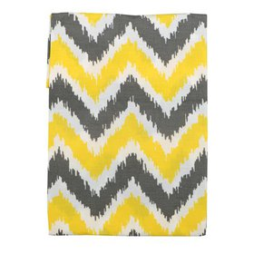 Bacati Curtain Panel Yellow/Grey Zigzag Mix N Matc
