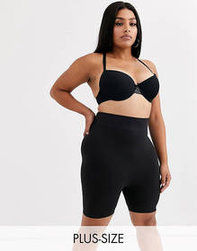 Only Curve support shapewear shorts in black