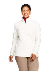 Lands' End Women's Plus Fleece Quarter Zip Pullove