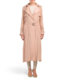 BCBGMAXAZRIA Long Wrap Drape Coat