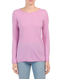 JONES NEW YORK Roll Edge Cashmere Pullover Sweater