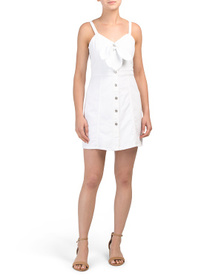 7 FOR ALL MANKIND Double Bow Tie Front Dress