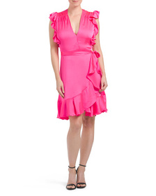 7 FOR ALL MANKIND Ruffle Wrap Dress