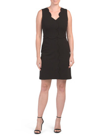 NICOLE MILLER NEW YORK Scallop Neck Cocktail Dress