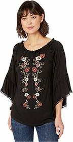 Wrangler Long Sleeve Knit Top with Embroidery