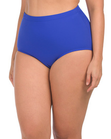 SHAPE SOLVER Plus High Waist Swim Bottoms