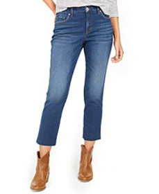 Straight-Leg Cropped Denim Jeans, Created For Macy