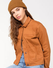 SKY AND SPARROW Twill Pocket Womens Jacket_