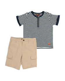 7 FOR ALL MANKIND Little Boys Henley And Cargo Sho