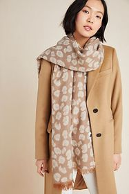 Anthropologie Reversible Cozy Leopard Scarf