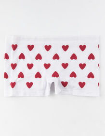 FULL TILT Heart Seamless White Boyshorts_