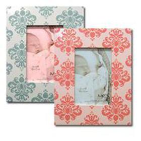 MCS Baby Damask Picture Frame for 5x7 Photo, Blue