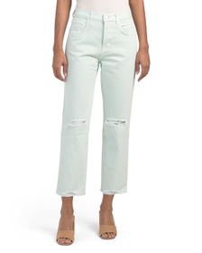 J BRAND Wynne High Rise Crop Straight Leg Jeans