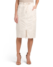 FREE PEOPLE Drawstring Waist Skirt