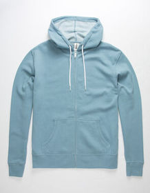 INDEPENDENT TRADING COMPANY Dusty Blue Mens Zip Ho