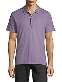 7 For All Mankind Short-Sleeve Cotton Polo PURPLE