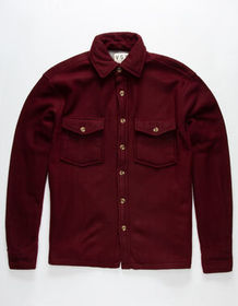 VSTR Solid Shacket Burgandy Mens Shirt_