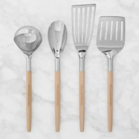 Williams Sonoma Stainless-Steel Utensils with Wood