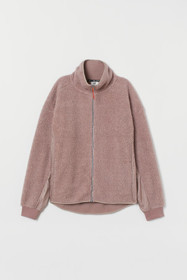 Faux Shearling Track Jacket