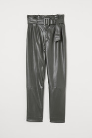 Ankle-length Pants with Belt