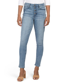 SEVEN7 Ultra High Rise Exposed Button Front Jeans