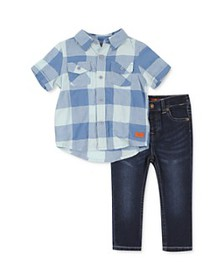 7 For All Mankind - Boys' Checkered Camp Shirt & J