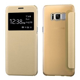 MYBAT For Samsung Galaxy S8 Plus Gold Leather Fabr