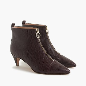 J. Crew Pointy kitten-heel ankle boots with front