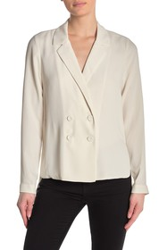 BCBGMAXAZRIA Double Breasted Long Sleeve Top