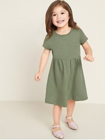 Jersey-Knit Fit & Flare Dress for Toddler Girls