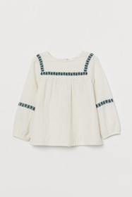 KIDS EXCLUSIVE Embroidered Cotton Blouse