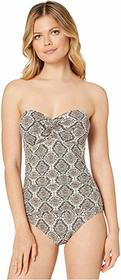Tommy Bahama Desert Python Shirred Bandeau One-Pie